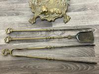 Victorian Brass Hunting Dog Fire Companion Set (24 of 40)