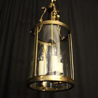 French Gilded Triple Light Antique Lantern (4 of 7)