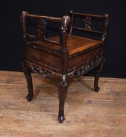 Antique Chinese Stool Hand Carved Piano Circa 1880 (4 of 10)