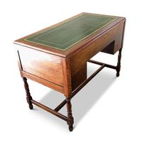 Lovely Little Vintage Desk with Green Leather Top & Drawers c.1970 (8 of 8)