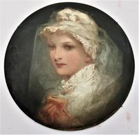Florence Ann Claxton '1838-1920' - Confirmation in 1700, Painted Pottery Plaque (2 of 6)
