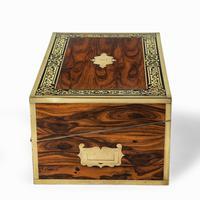 Superb William IV Brass Inlaid Kingwood Writing Box by Edwards (2 of 17)