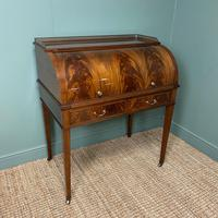 Superb Quality Victorian Antique Cylindrical Mahogany Desk by Maple & Co (7 of 12)