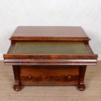 Secretaire Chest of Drawers Flamed Mahogany 19th Century