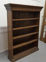 Arts & Crafts Open Oak Bookcase with Secret Compartment (2 of 7)