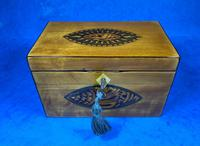 Late 18th Century Fruitwood and Applewood Twin Tea Caddy (15 of 21)