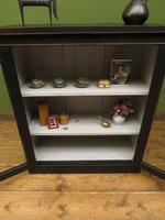 Antique Black Display Cabinet Bookcase, Alcove Cabinet, Gothic Shabby Chic (7 of 17)