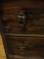 Antique Small Rustic Black Chest of Drawers (7 of 15)