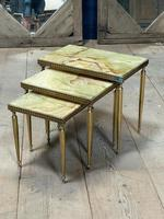 Nest 3 Onyx & Brass Tables (3 of 16)