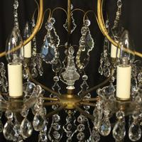 French Gilded & Crystal Birdcage 7 Light Antique Chandelier (8 of 10)