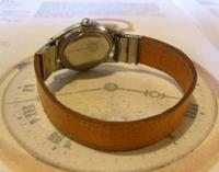 Vintage Wrist Watch Strap 1940s WW2 Military 16mm Brown Pig Skin Spring Loaded Ends Nos (4 of 12)