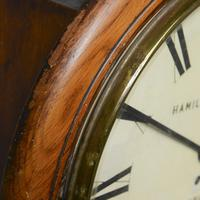 Oak Fusee Wall Clock by Hamilton & Inches (4 of 6)