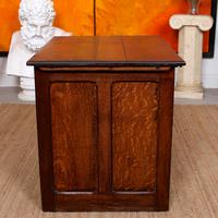 Carved Oak Desk French Writing Table Golden (15 of 15)