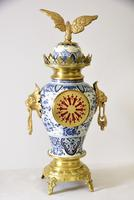 Delft-ware Vase or Urn Table Clock (4 of 5)