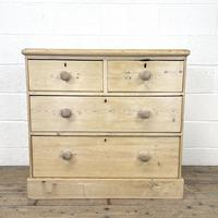 Rustic Antique Pine Chest of Drawers (2 of 10)