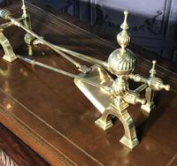 Quality Brass Andirons & Companion Set (2 of 17)