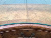 Antique Walnut & Burr Walnut Kidney Shaped Desk (7 of 13)