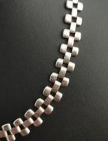 Antique Victorian Silver Collar Necklace, Brick Link (4 of 12)