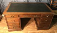 Edwardian Mahogany Pedestal Desk (2 of 5)