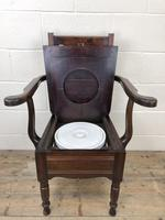 Antique Edwardian Mahogany Commode Armchair (6 of 9)