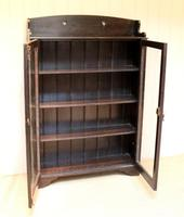 Arts & Crafts Dark Oak Bookcase (9 of 9)