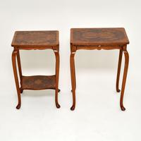 Pair of Matched Burr Walnut Edwardian Side Tables (9 of 10)