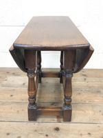 Small Antique Oak Drop Leaf Table (5 of 8)