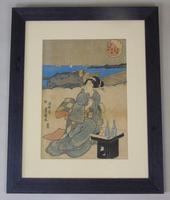 19th Century Japanese Woodblock Print by Kunisada