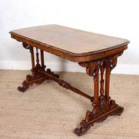 Walnut Writing Table 19th Century (14 of 14)