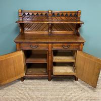 Victorian Holland & Sons Antique Oak Sideboard (4 of 9)