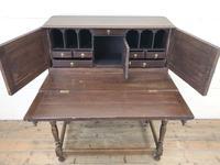 Antique Oak Carved Desk (5 of 13)