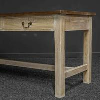 Country Style Three Drawer Dining Table (5 of 10)