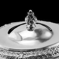 Rare Antique Solid Silver Cellini Tea Caddy Box - Mappin & Webb 1902 (18 of 28)
