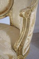 Pair of 19th Century French Gilt Louis XVI Style Armchairs (14 of 19)