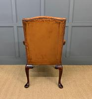 Leather Upholstered Gainsborough Armchair (3 of 12)