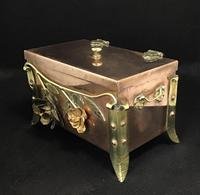 Arts and Crafts Copper and Brass Trinket Box (3 of 7)