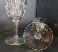Pair Of Early Victorian Hand Cut Wine Glasses c.1845. (2 of 4)