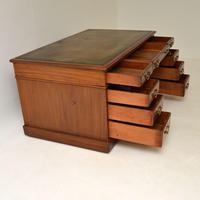 Large Antique Victorian  Mahogany  Pedestal Desk (9 of 12)