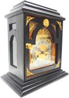 Interesting Quarter Striking German Bracket Clock by Junghans in Ebony Glazed Case (9 of 9)