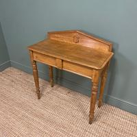 Quality Victorian Golden Oak Antique Hall Table (4 of 7)