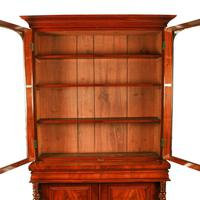 Fine Victorian Mahogany Cabinet Bookcase (5 of 8)