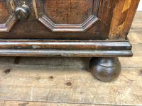 Antique Geometric Oak Chest of Drawers (5 of 10)