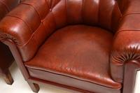 Pair of Antique Swedish  Leather Club Armchairs (6 of 11)