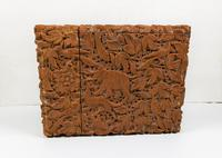 Rare Victorian Stunning Chinese Export Sandal Wood Carved Elephant Card Case (10 of 13)