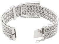 1.50ct Diamond & 18ct White Gold Bracelet - Vintage French c.1940 (7 of 10)