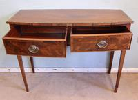 Antique Georgian Style Mahogany Two Drawer Side Table (4 of 7)