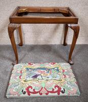 Carved Walnut Cabriole Leg Stool in the Queen Anne Style (4 of 8)