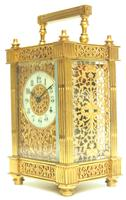 Fantastic French 8-day Fleur De Lis Decorated Panel 8-day Carriage Clock Timepiece c1890 (4 of 10)