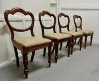 4 Victorian Mahogany Balloon Back Dining Chairs (4 of 6)