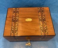 Victorian Walnut Inlaid Jewellery Box (5 of 12)